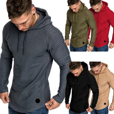 Men Slim Fit Sweatshirt Pullover Zip Up Casual Hoodie Hooded Sweater Coat Jacket