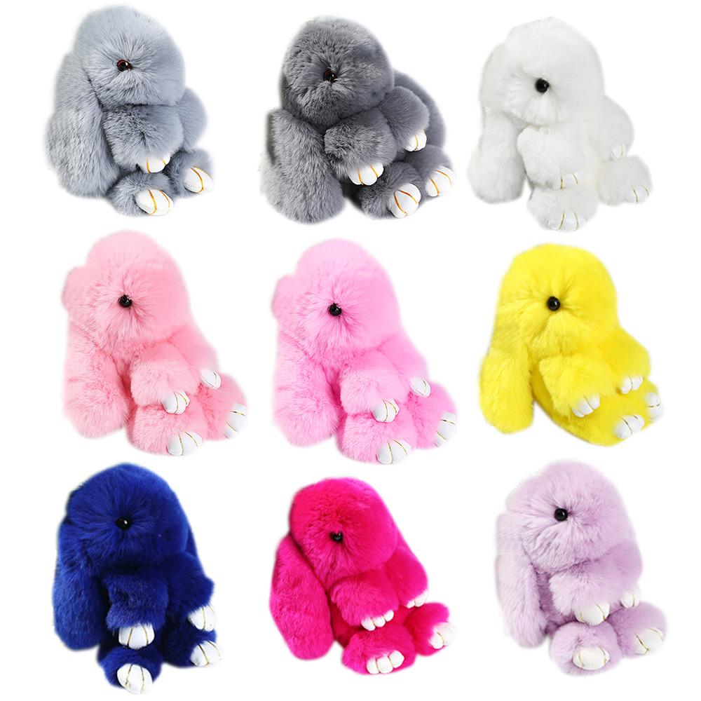 3415e3ee2 14cm Bunny Rex Rabbit Fur Bag Handbag Keychain Pendant-buy at a low ...