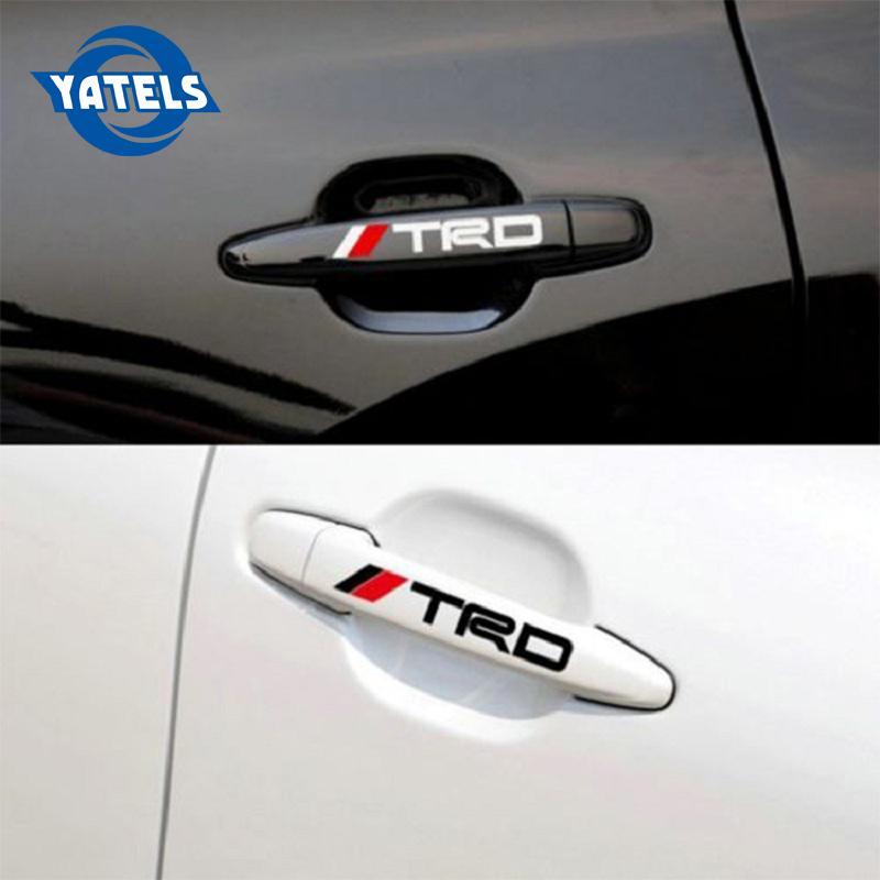 2 Toyota Tacoma  Door Handle Decals emblem White  TRD
