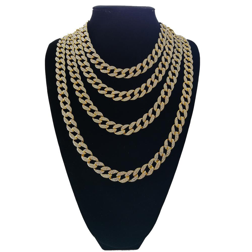 Hip Hop Cuban Chain Necklace Golden Silver Iced Out Paved Rhinestones Rapper Necklaces Men Jewelry Buy At A Low Prices On Joom E Commerce Platform
