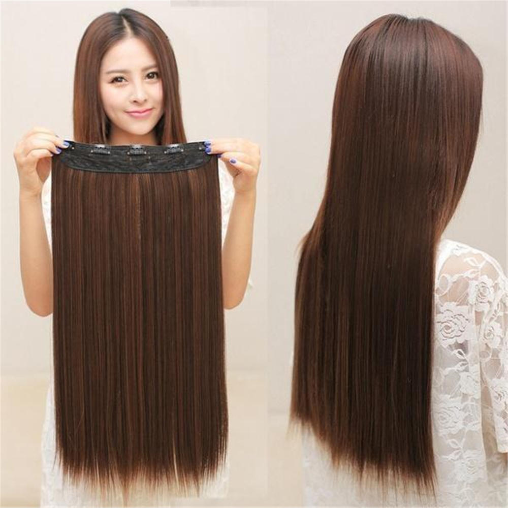 Women Clip In Hair Extensions Hair Extensions Long Straight Wig