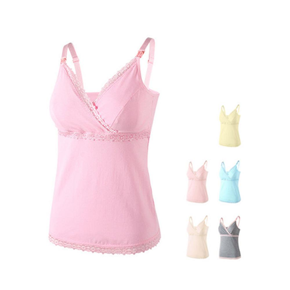 b1294ac4a0b Women Pregnant Maternity T-Shirt Nursing Tops Breastfeeding Cotton Solid  Vest-buy at a low prices on Joom e-commerce platform