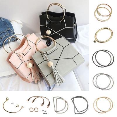 Tasche Koffer Kleidung Deko x10 mit Niete Halbrund D Ring Silber Bronze DIY Neu