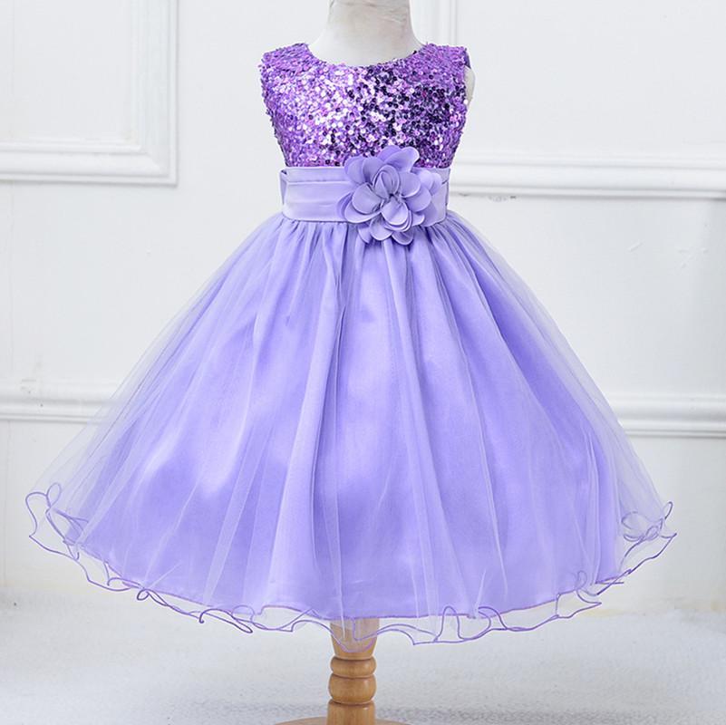 Los niños del bebé niñas princesa flor vestido de traje boda fiesta ...