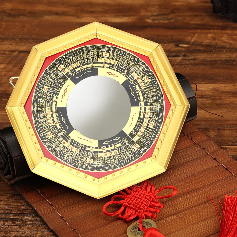 Decorative Bagua Mirror Lucky Chinese Style Feng Shui Home Living Room Ornament
