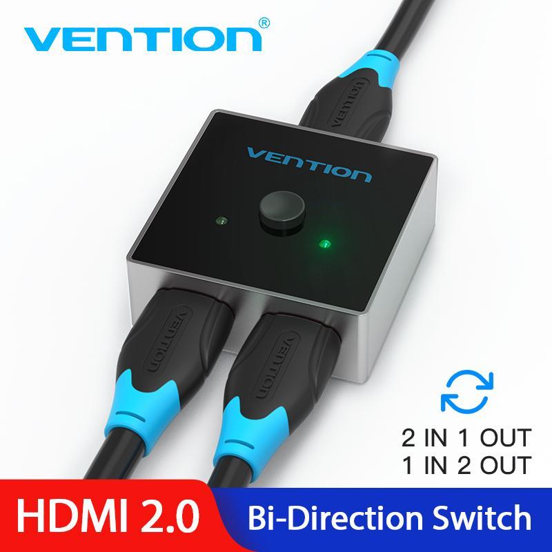 Vention Hdmi Splitter Switch Hdmi 2 0 4k Bi Direction 1x2 2x1 Adapter For Ps3 4 Tv Box Dvd Köpa Till Låga Priser I Joom Webbutiken