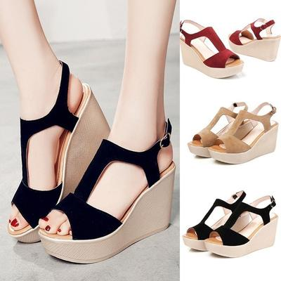 290a1a57c3c02f Fashion Summer Fashion Women s Shoes High-heeled Shoe Casual Sandals Roman Open  Toe Shoes
