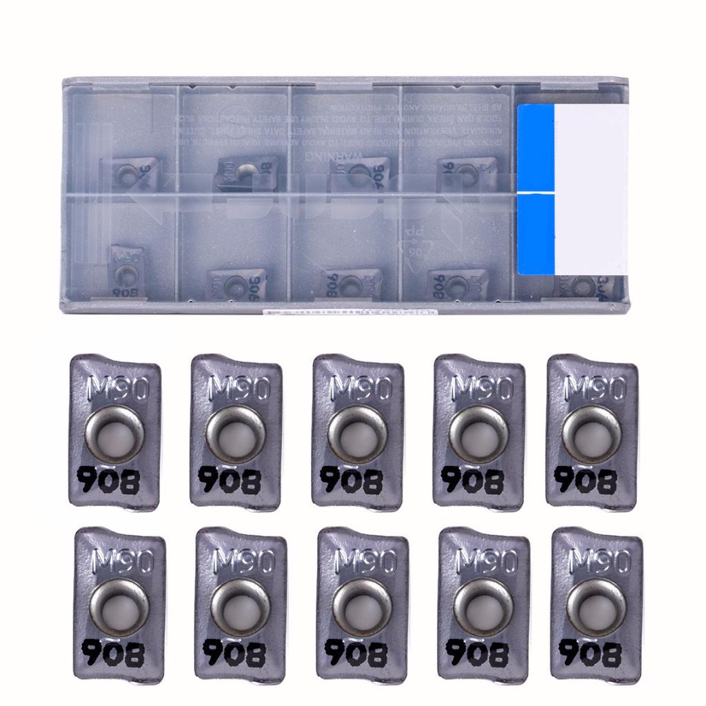 10Pcs HM90 APKT1003PDR IC908 carbide Inserts For Lathe Turning Tool Boring Bar