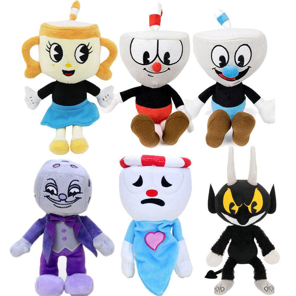 Cuphead /& Mugman Ghost Chalice Devil Boss Dice Plush Doll Toy for Kids Xmas Gift