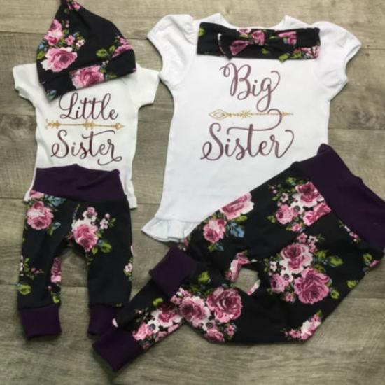 Pants Sets Scfcloth Sisters Matching Outfits Little Big Sister Romper Tops