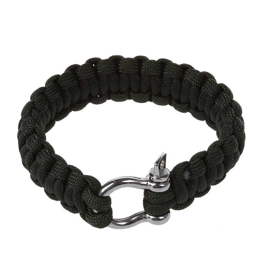 longueur 20 cm bijoux Outdoor Paracord Bracelet avec boussole différentes couleurs