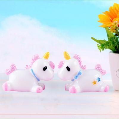 Cute Unicorn Miniature Figurine Fairy Garden Dollhouse Decor Micro Landscape Gut