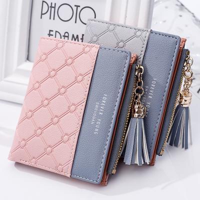 Women Fashion PU Leather Wallet Tassel Zippers Purse Tote Bag Girls Coin Pocket Handbag