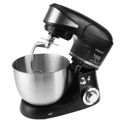 5L Electric Food Mixer 6 Speed Table Stand Cake Dough Mixer Cream Egg Whisk Blender Flat Beater Kitchen Powerful Machine