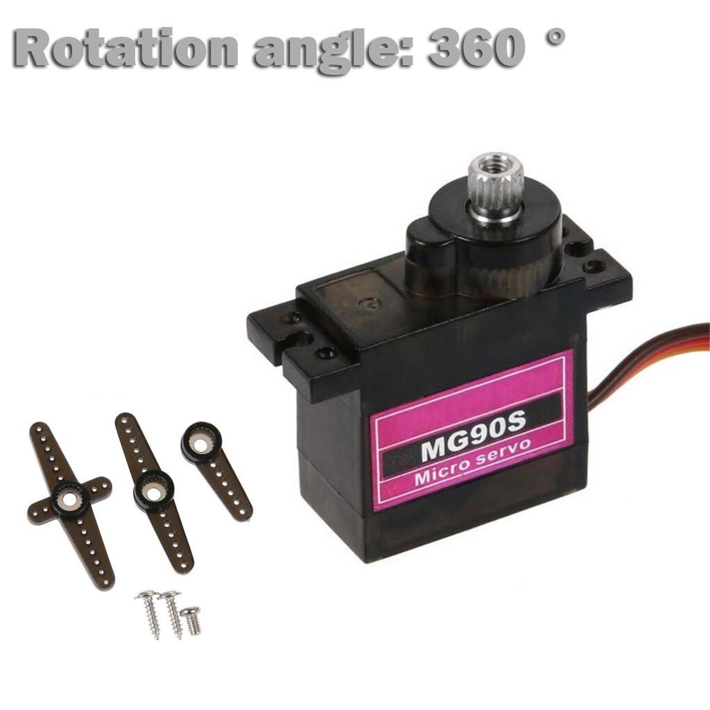 4X mG90S Micro Metal Gear 9g Servo for RC Airplane Helicopter Boat upgraded SG90