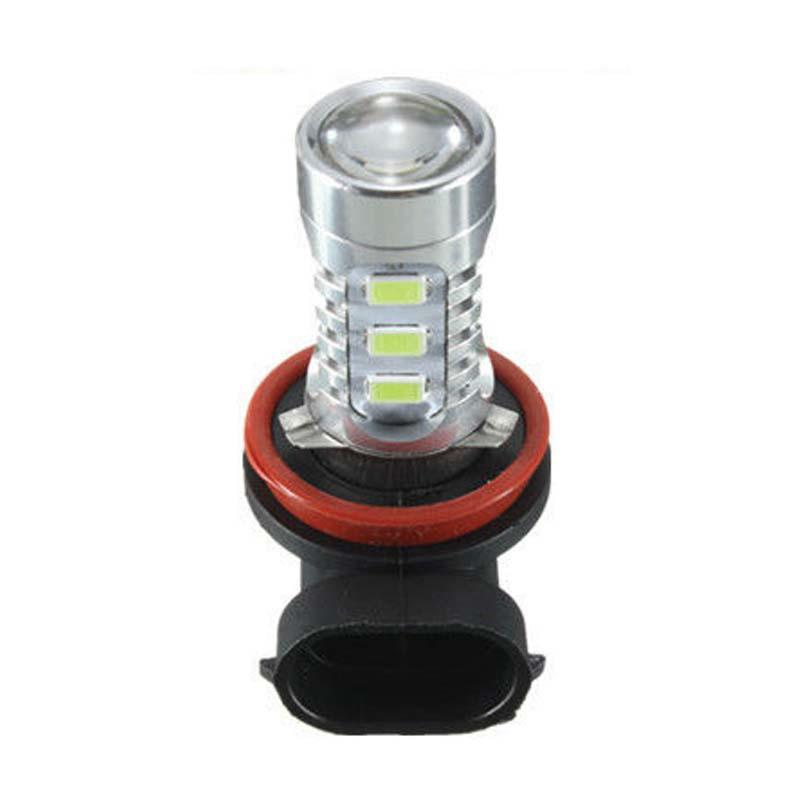 H11 CREE 100W 7000K White COB LED Projector Bulbs For Fog Lamp Daytime Lights