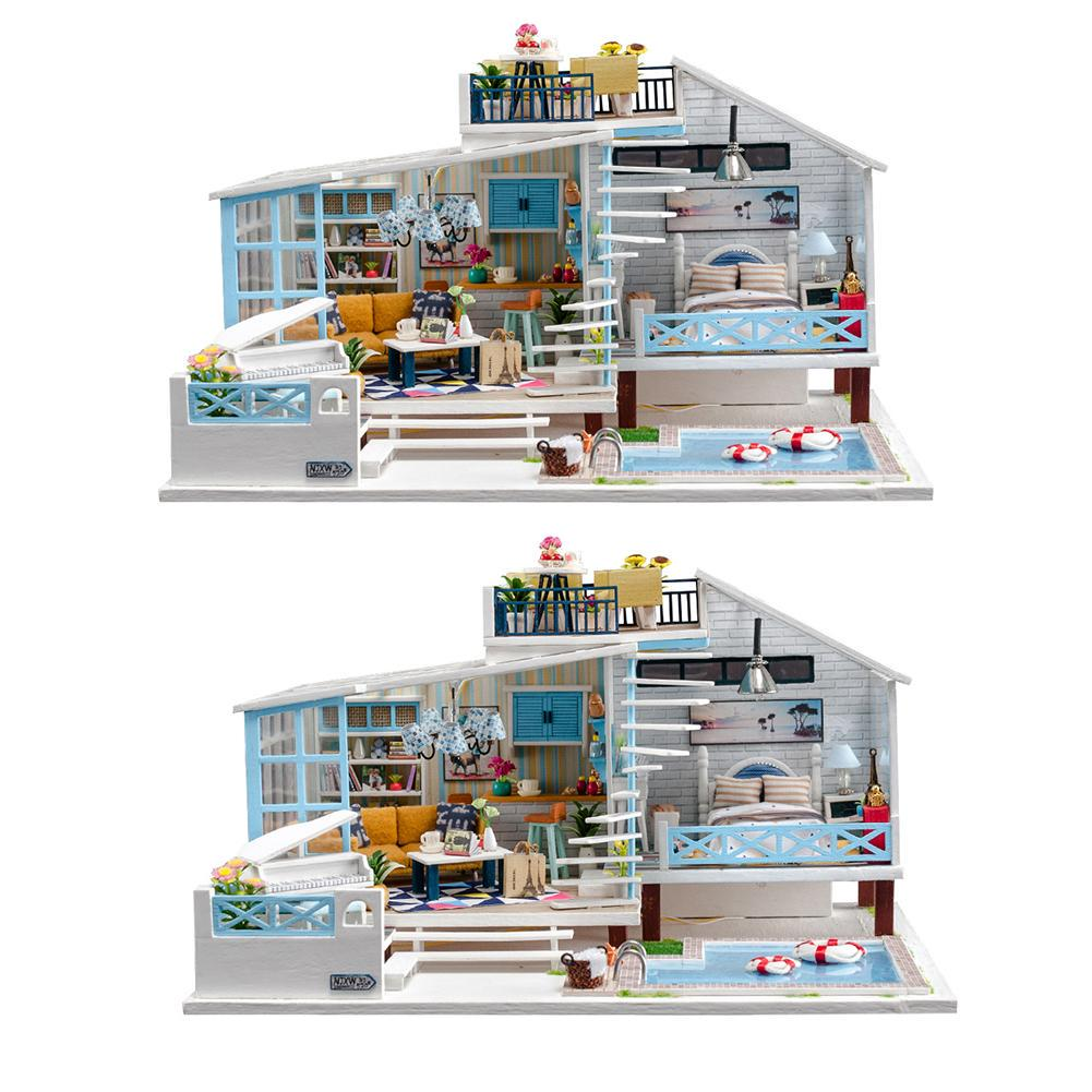 Handcraft 3D Puzzle Miniature Furniture DIY Dollhouse Kit Tailor/'s Shop Build