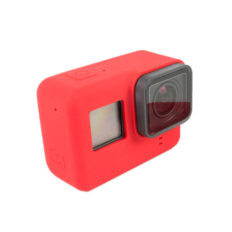 Protective silica gel case protective silicone for gopro hero 5 case  shockproof gopro hero 5 cover case red