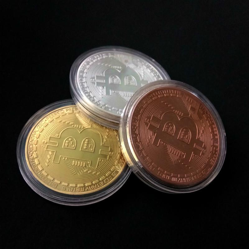 bitcoină comemorativă monedă