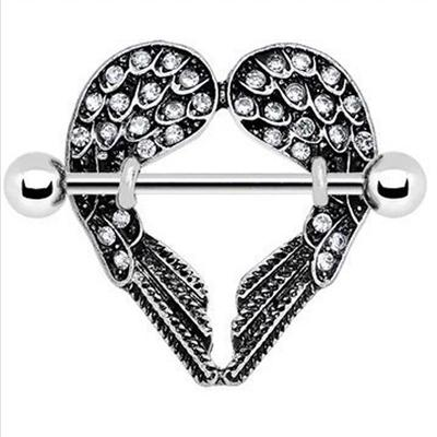 Covet Jewelry Heart Shape 316L Surgical Steel Nipple Shield