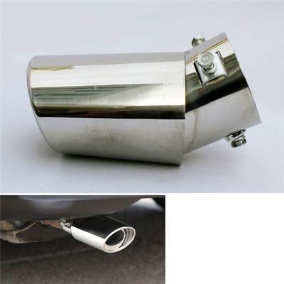 Universal Chrome Muffler Exhaust Pipe Stainless Steel Round Straight Tail Throat