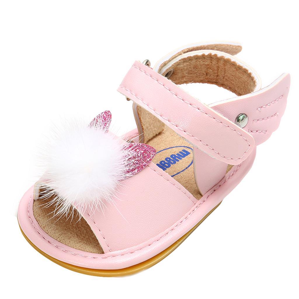 Newborn Baby Sequins Bowkno Tassel Step Shoes Sandals Soft Shoes Non-Slip Shoes