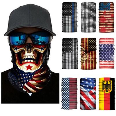 Magic Headwear Creative Poker Outdoor Scarf Headbands Bandana Mask Neck Gaiter Head Wrap Mask Sweatband