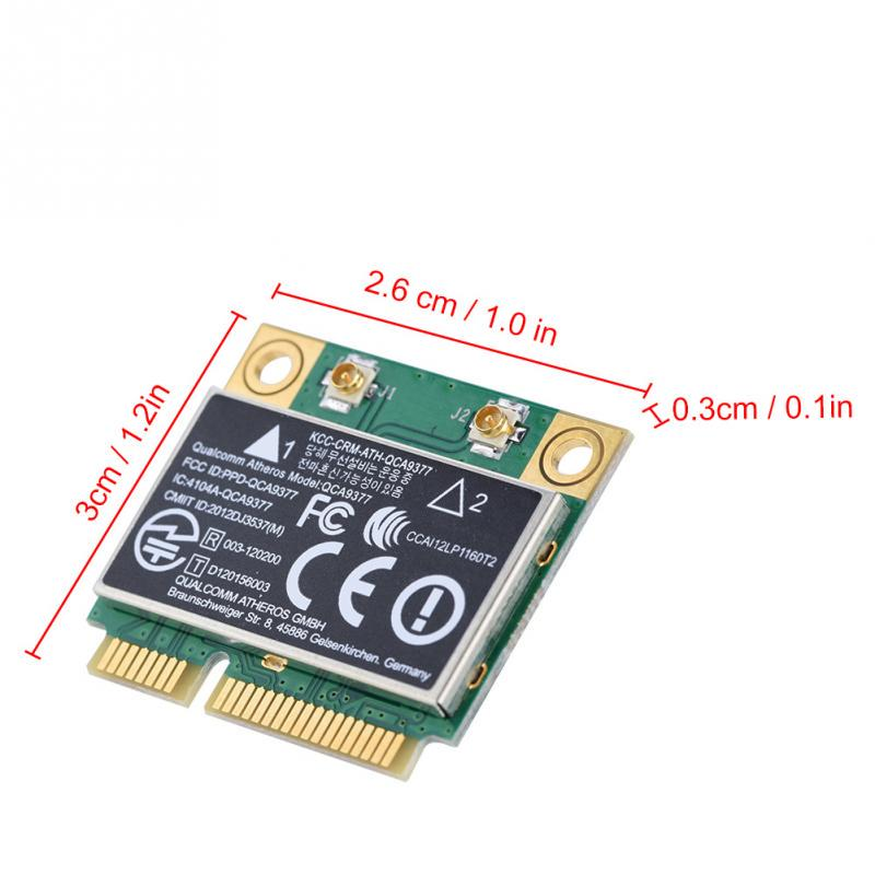 Card atheros qca9377 dual band 2 4g/5ghz network card 433mbps wifi mini  pci-e wireless card