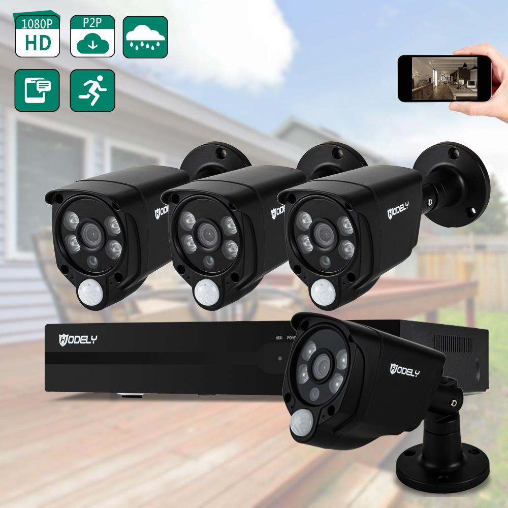 Hodely 8CH 1080N CCTV 5in1 DVR Outdoor 720P IR-CUT Camera Security Video System