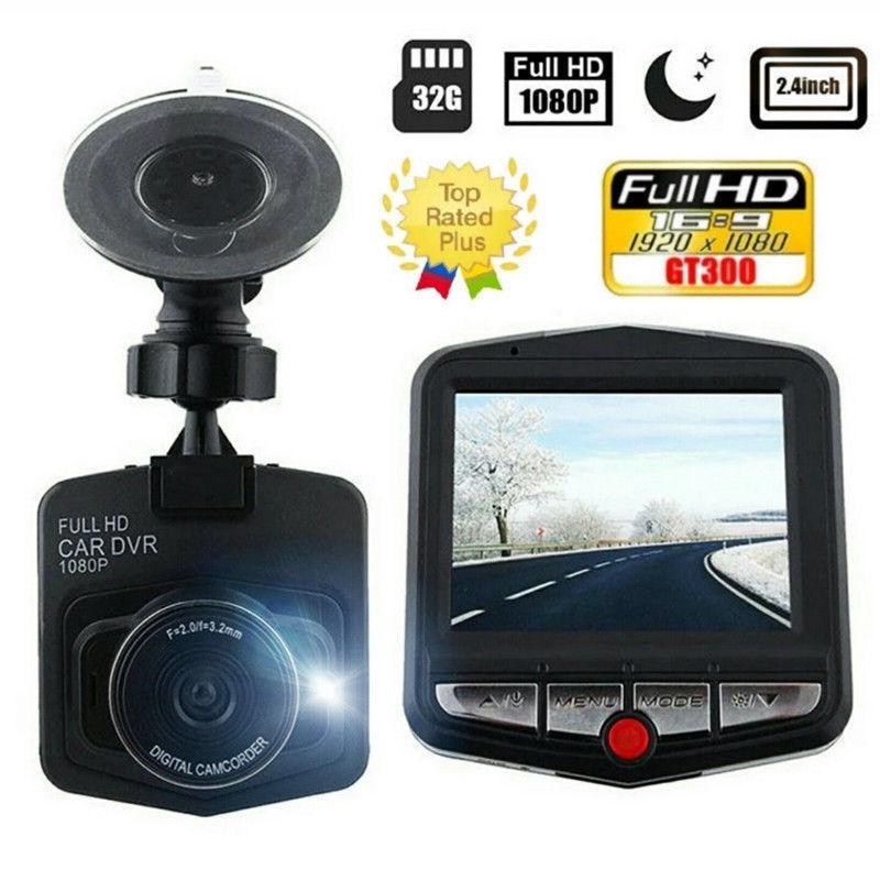 Dashcam Full HD 1080P GT300 Car DVR Vehicle Camera Video Recorder Dash Cam Black