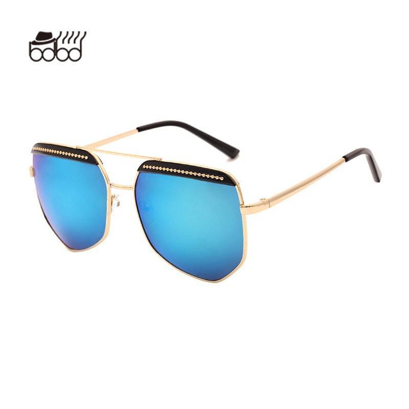 Piloten Sonnenbrille Damenmode Marke Designer Objektiv Shades Brille ...