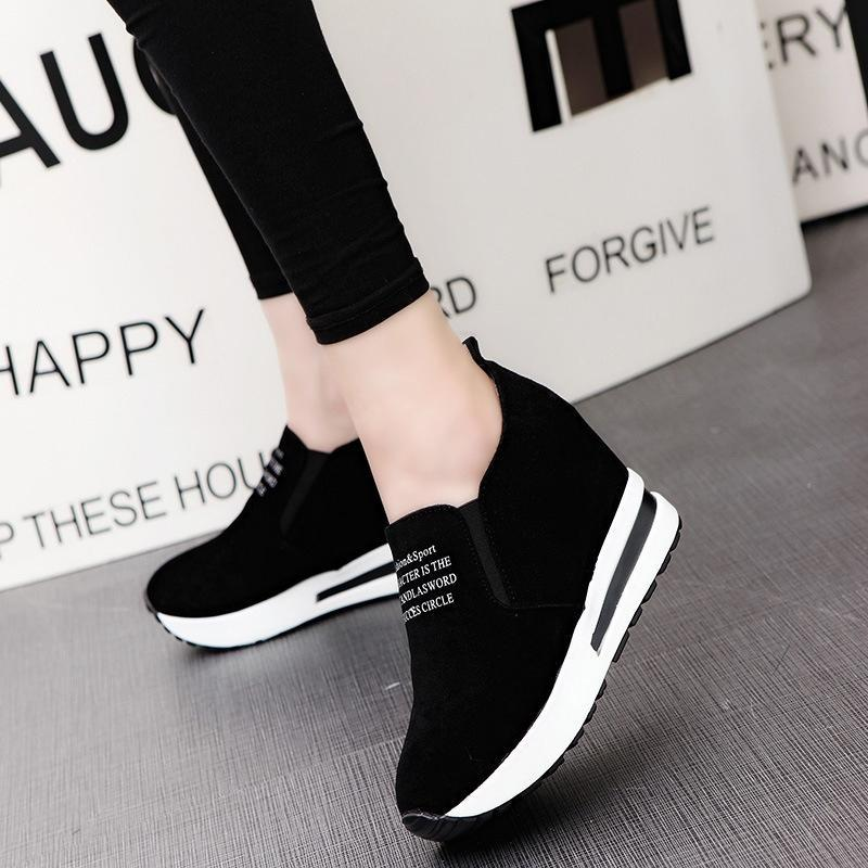 Women/'s Wedge Heels Sneakers Ladies Casual Slip On Loafers Sport Pumps Shoes