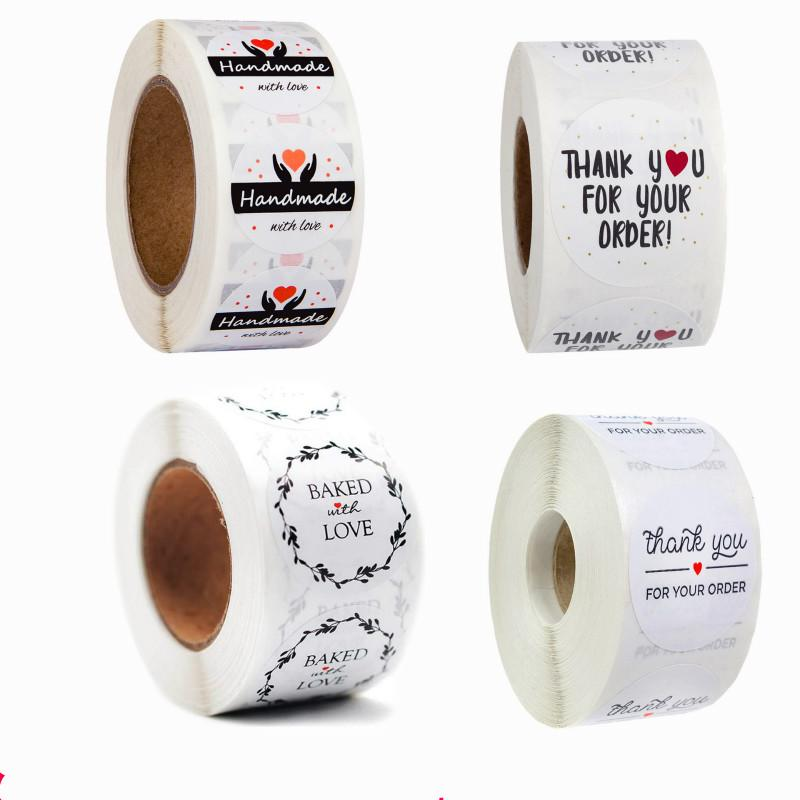 Envelope Packaging Seal Labels Adhesive Label Thank You Stickers Happy Birthday