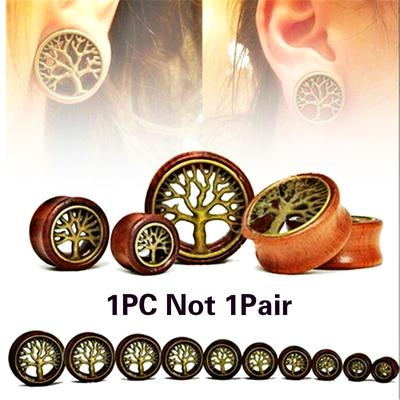 Tan Stic New Pair of Screw on Picture Plugs gauges Vintage Heart