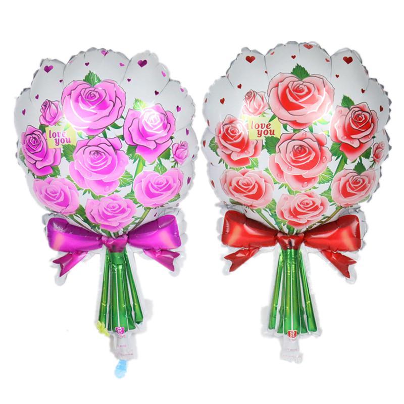 Розы цветы фольга воздушные шары Mariage украшение день Святого Валентина украшение прополка Globos любовь цветок фото