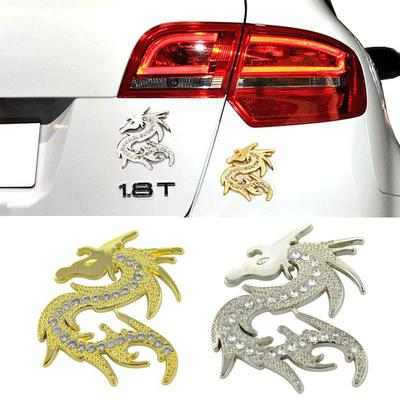 Chinese Dragon Car Auto Bike 3D chrome decal sticker badge 3D sticker