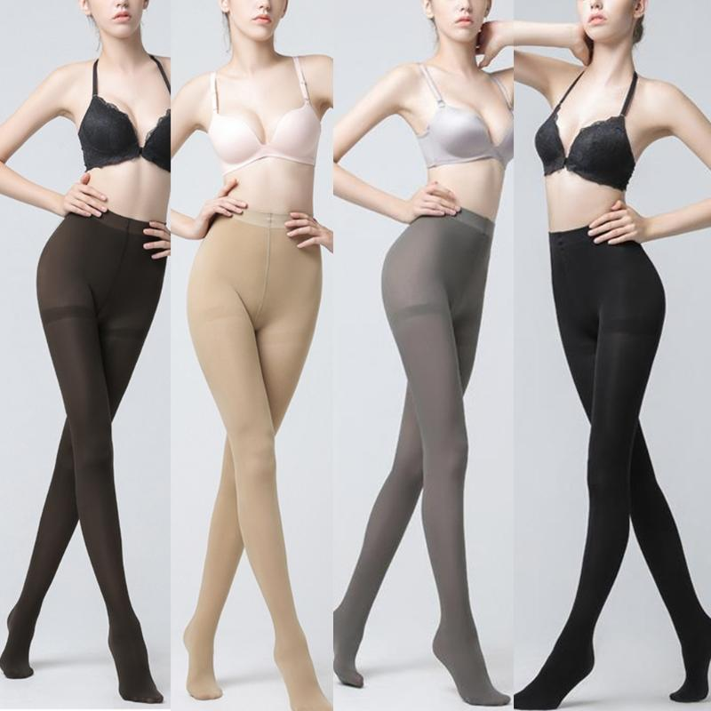 1-3 Pairs Womens Thick Cotton Tight Footless Leggings Stretch Pants Stockings