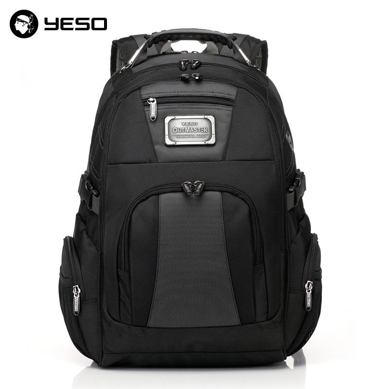 Laptop Backpack Mens Multi-Function Waterproof Youth Business Leisure Travel Backpack Black 15 inch 38X18X48cm