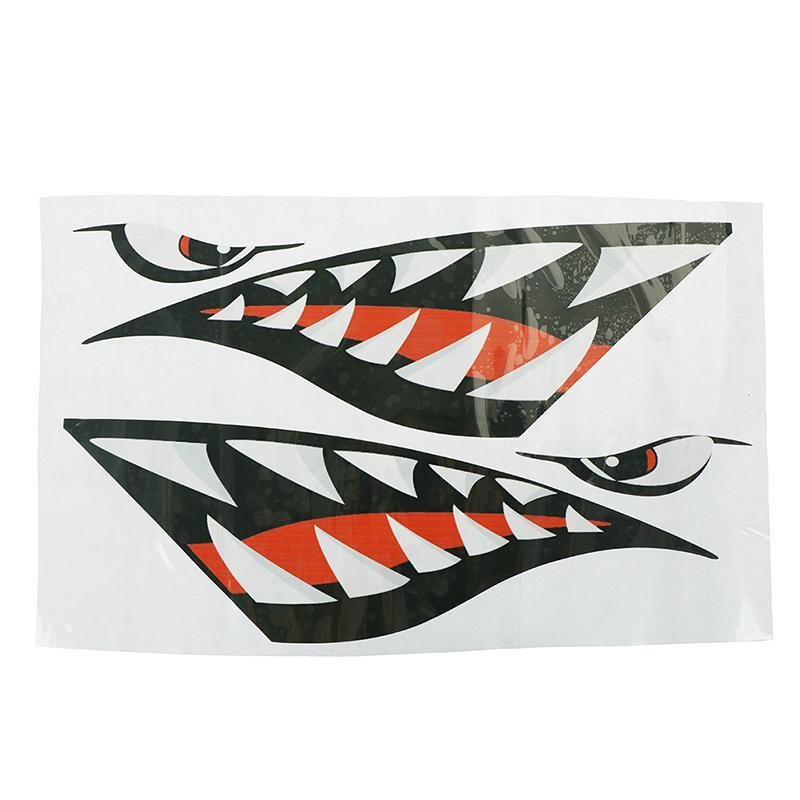 Autoadesivi decalcomanie della decalcomania della bocca dei denti di squalo