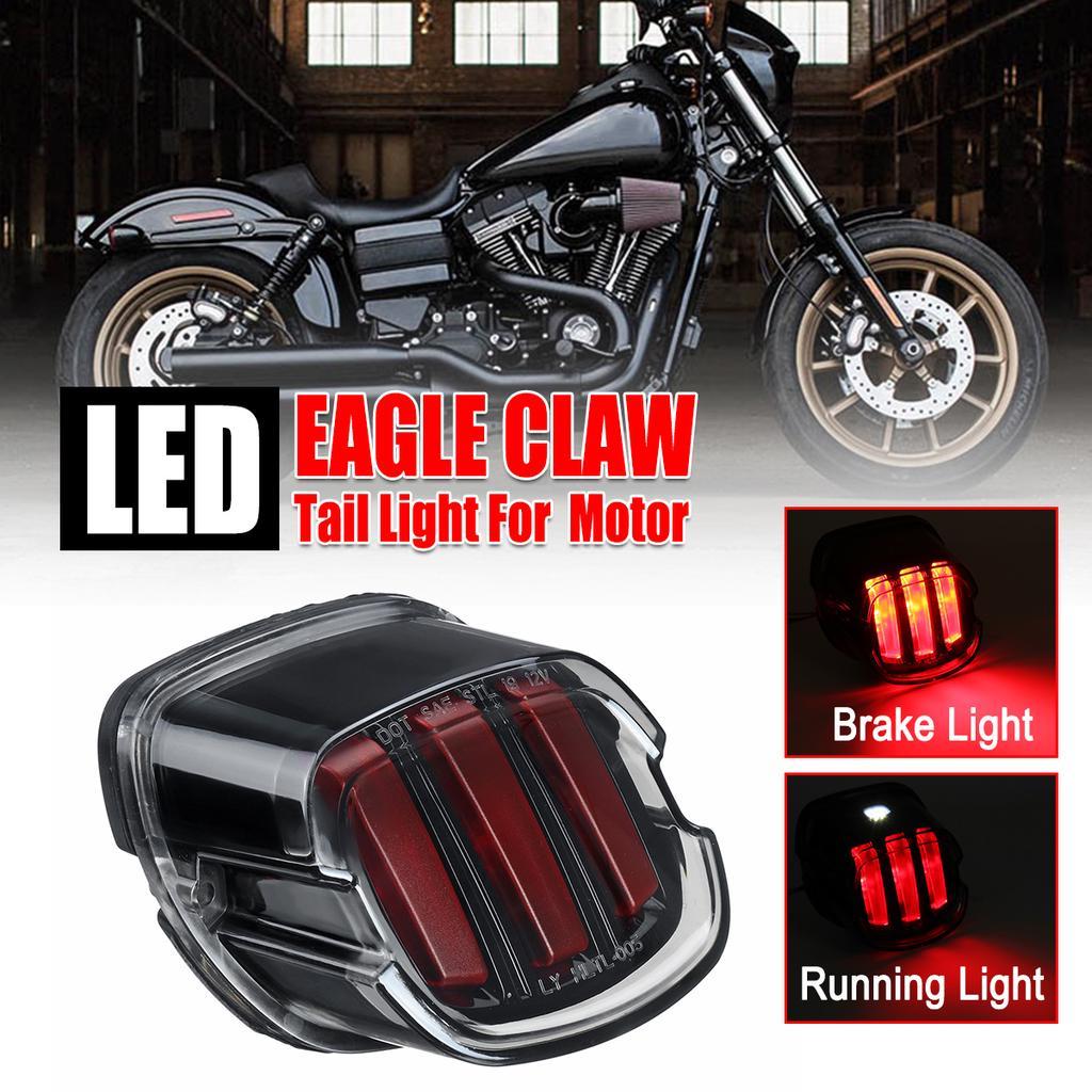 4 LED White License Light Harley Motorcycle 29 LED Red Stop Brake Tail Light