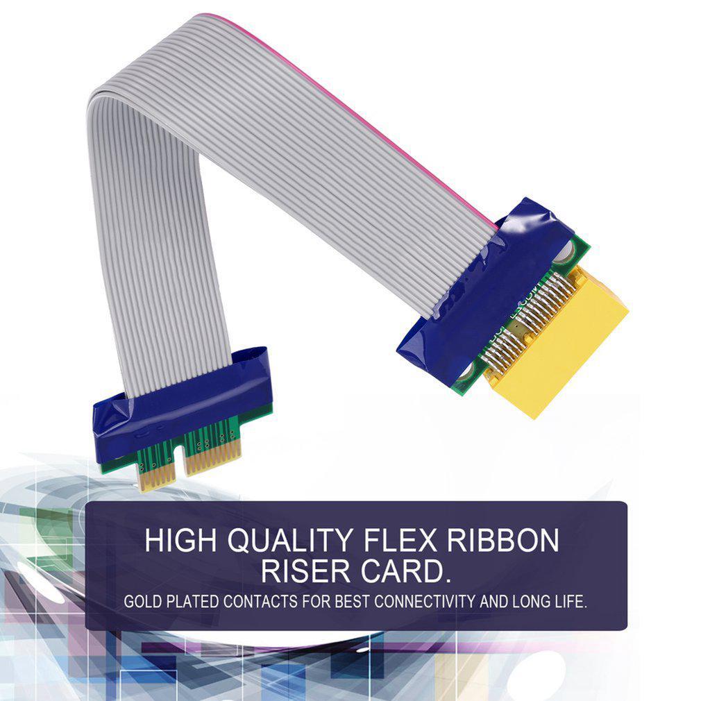 PCI-E 1X Slot Riser Card Extender Extension Ribbon Flex Relocate Cable