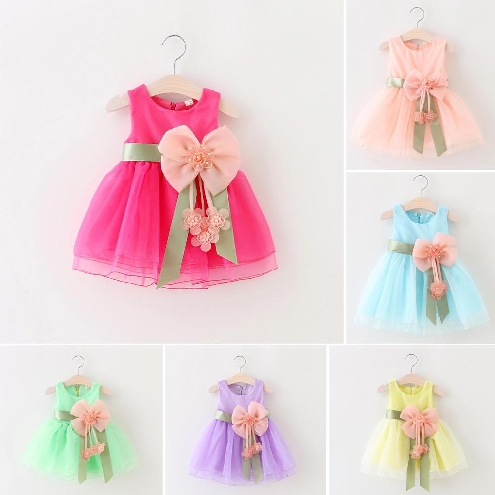 女童玻璃纱连衣裙公主背心裙腰间花朵裙子