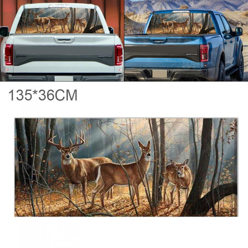 Universal 135*36cm Car SUV Horror Forest Pattern Decor Rear Window Graphic Decal
