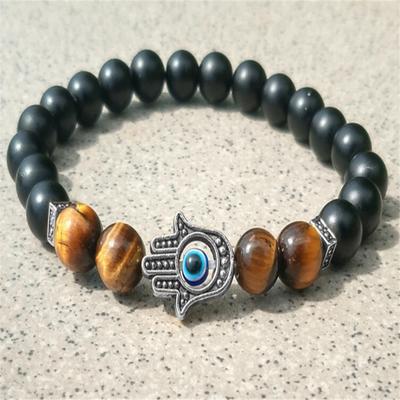 8 mm photo pierre volcanique Bracelet moine chakas prier Lucky spiritualité Bead