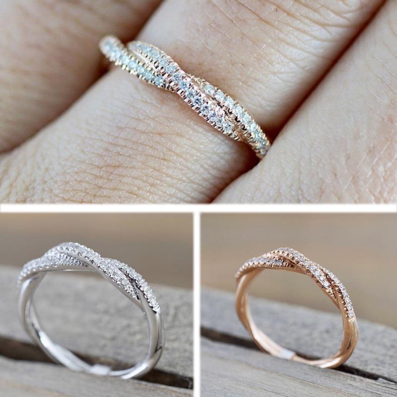 Подарочные украшения,женские кольца,модная витая форма фото