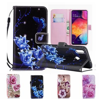 Flower Leather Flip Wallet Case For Samsung A 10 01 31 21 51 70 71 32 52 12 02 Honor 9A 9S 8A Y5 Lite Xiaomi Mi A3 9 Lite Redmi 9T 8 7a 9 9A 9C Cover