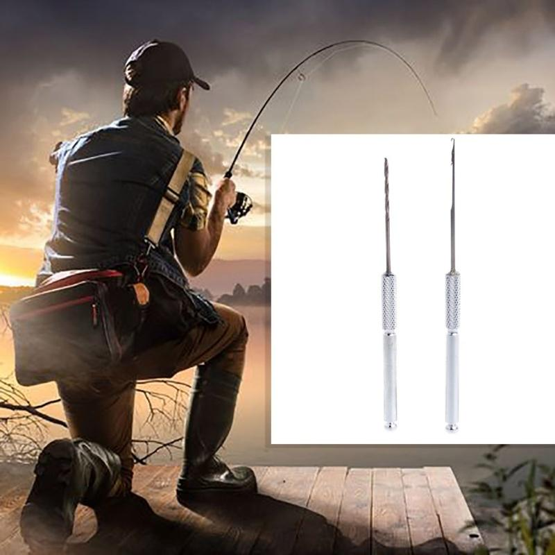 2x\Set Carp Fishing Fish Bait Making Rigs Drill Hook Crochet Needle Tackle Tool,