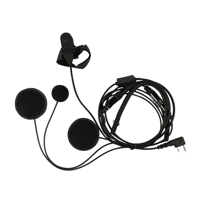 IDS G Shape Earpiece Headset PTT MIC Soft Ear Hook 2 PIN Kenwood HYT Puxing Wouxun Baofeng Lt-2288 Lt-3107 Lt-3188 Lt-3260 Lt-3268 Two Way Radios