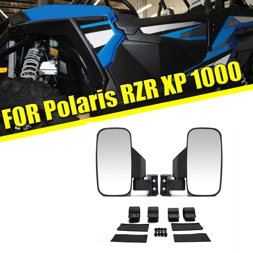 "1.75/"" 2/'/' UTV ATV Rear View Mirror Fit Yamaha YXZ1000R Polaris XP1000 Grey"
