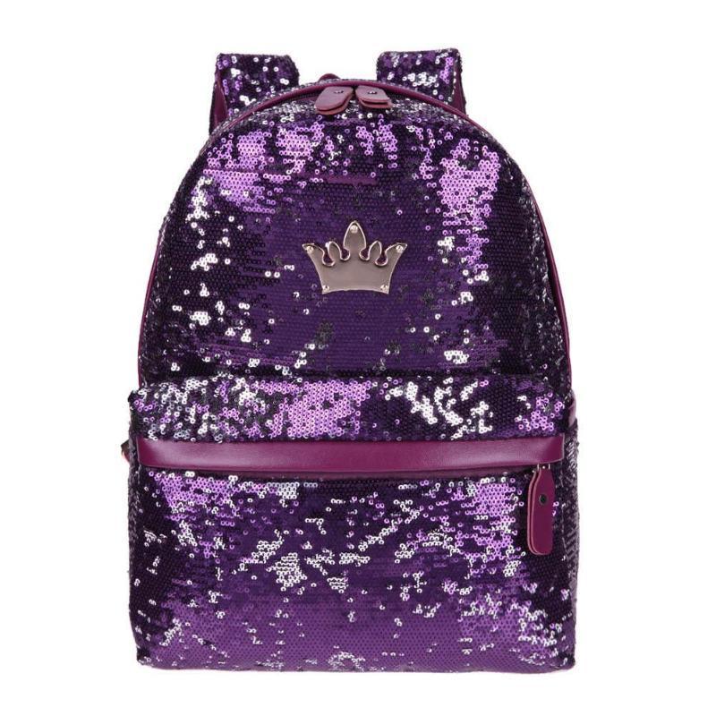 concept nou prețuri incredibile cei mai buni adidași Femei paiete stralucitoare rucsac adolescente fete Travel Casual ...